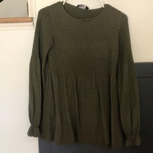 Roolee olive green top